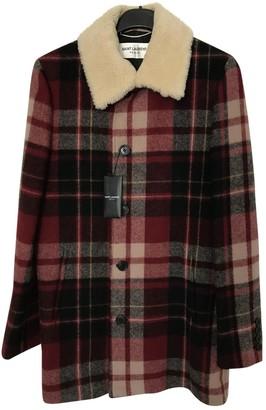 Saint Laurent Red Wool Coats
