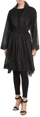 Alaia Silk Taffeta Sheer Topper Dress