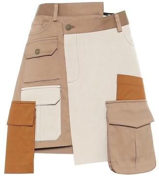 Monse Deconstructed cotton miniskirt