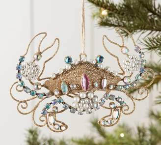 Pottery Barn Jeweled Crab Ornament
