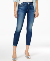 7 For All Mankind Frayed Ankle Skinny Jeans