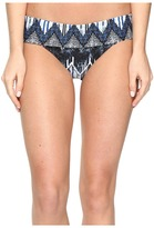 Red Carter Indigo Blues Fold-Over Hipster Classic Bottoms Women's Swimwear