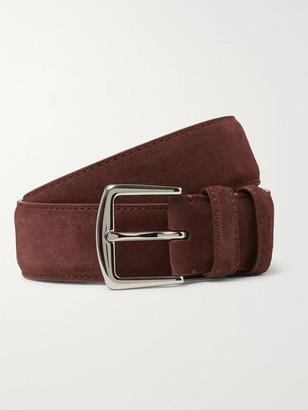 Loro Piana 4cm Tan Suede Belt