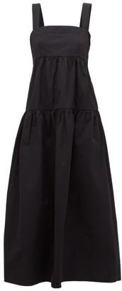 Three Graces London Cosette Cotton-poplin Dress - Black