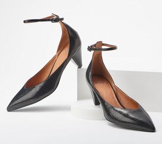 Franco Sarto Cone Heel Ankle Strap Kitten Heel - Coralie