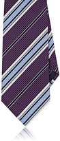 Brioni Men's Silk Repp Necktie-PURPLE