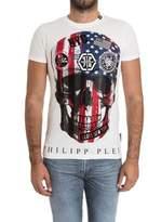 Philipp Plein Men's White Cotton T-shirt.