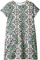 Toobydoo Green Floral Shift Dress (Toddler/Little Kids/Big Kids)