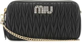 Miu Miu Logo Matelasse Crossbody Bag