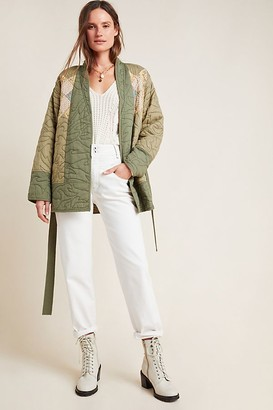 Anthropologie Quilted Patchwork Kimono