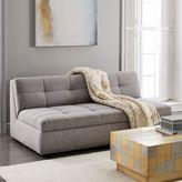 "west elm Plateau Armless Sofa (68"") - Feather Gray (Chenille Tweed)"