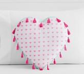Pottery Barn Kids Mila Heart Shaped Pillow, Multi