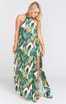 MUMU Bronte Maxi Dress ~ Peachy Palm