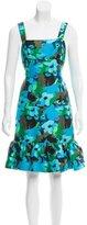 Oscar de la Renta Floral Knee-Length Dress w/ Tags