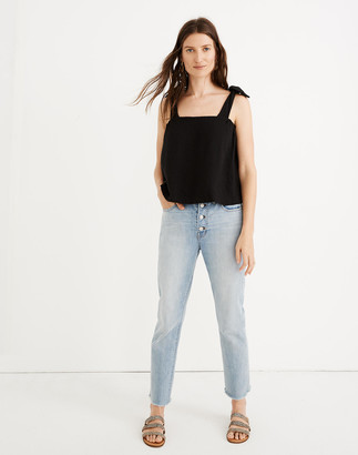Madewell The High-Rise Slim Boyjean in Fitzgerald Wash: Button-Front Edition