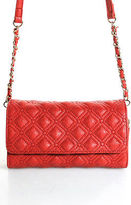 Big Buddha Red Quilted Faux Leather Small Chain Strap Crossbody Handbag