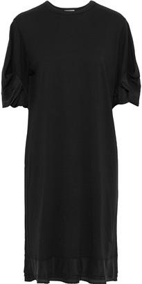 Clu Satin-trimmed Cotton-jersey Dress