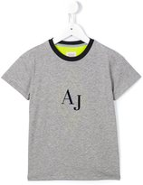 Armani Junior diamond logo T-shirt
