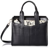 Steve Madden Women's Structure Satchel, Black Multi