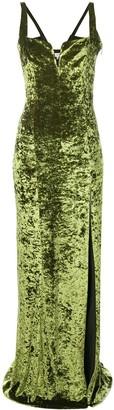 Galvan Solstice velvet dress
