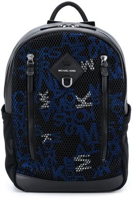 Michael Kors Brooklyn Logo Mixed-Media backpack