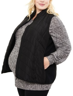 Motherhood Maternity Plus Size Quilted Puffer Vest