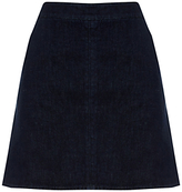 Warehouse A-Line Denim Skirt, Indigo