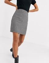 Parisian tailored a line mini skirt in gray