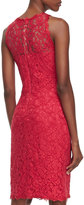 Tadashi Shoji Sleeveless Lace Cocktail Dress, French Rose