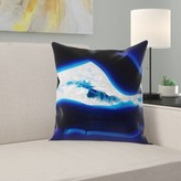 """Fluo Agate Throw Pillow East Urban Home Size: 14"""" H x 14"""" W x 1.5"""" D"""