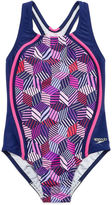 Speedo Girls Solid One Piece Swimsuit-Big Kid
