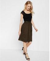 Express high waisted pocket midi skirt