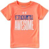 Under Armour Little Girls 2T-6X Wake Up Awesome Short-Sleeve Graphic Tee