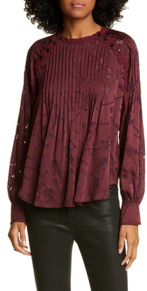 Rag & Bone Rubie Floral Burnout Blouse
