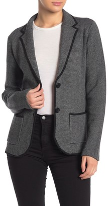 Magaschoni Notch Collar Front Button Blazer