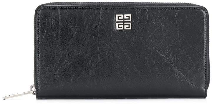 Givenchy logo zipped wallet