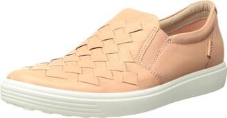 Ecco Women's Soft 7 Woven Slip on Sneakers