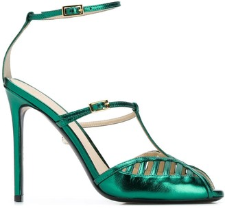 ALEVÌ Milano Metallic Open-Toe Sandals