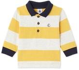 Petit Bateau Boys long-sleeved rugby polo shirt