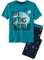 Old Navy 2-Piece Space-Printed Sleep Set for Boys