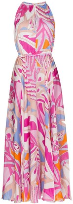 Emilio Pucci printed draped maxi dress
