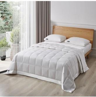 Blue Ridge Home Fashions Serta 233 Thread Count White Goose Feather And White Goose Down Fiber Blanket - Twin - White