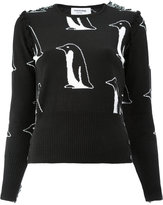 Thom Browne cashmere penguin print top