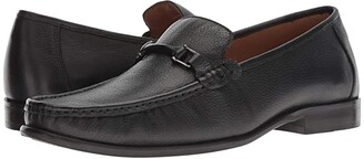 Carlos by Carlos Santana Milagro Bit Loafer (Black Calfskin Leather) Men's Slip on Shoes