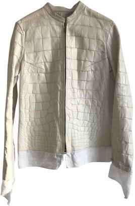 Isaac Sellam White Alligator Jacket for Women