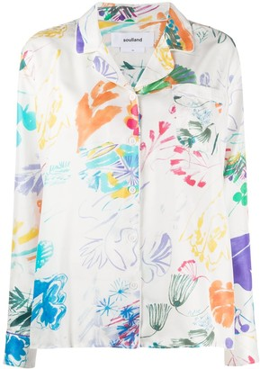 Soulland Lia printed pyjama-style shirt
