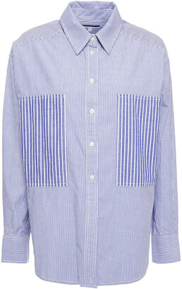 Current/Elliott Striped Cotton-poplin Shirt