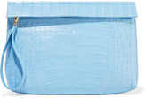 Nancy Gonzalez Crocodile Clutch - Light blue