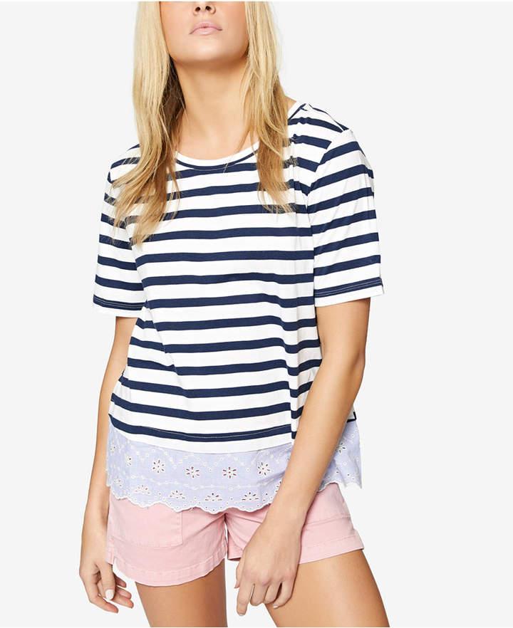 Sanctuary Long Beach Striped Contrast T-Shirt