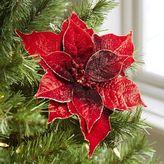 Pier 1 Imports Red Velvet Poinsettia Clip Ornament